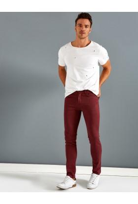 Koton Erkek Skinny Pantolon Bordo