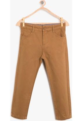 Koton Erkek Çocuk Normal Bel Pantolon Kahverengi
