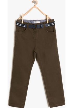 Koton Erkek Çocuk Kemerli Pantolon Yeşil