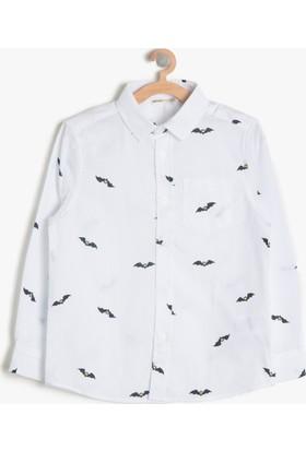 Koton Erkek Çocuk Batman Baskılı T-Shirt Beyaz