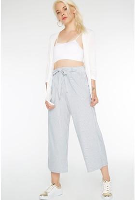 FullaModa Kadın Çizgili Pantolon 17YDRESSY0005