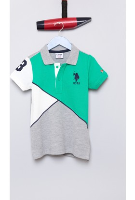 U.S. Polo Assn. Erkek Çocuk Frei T-Shirt Gri Melanj
