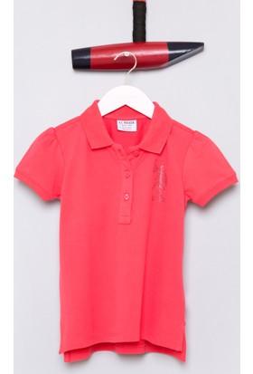 U.S. Polo Assn. Kız Çocuk Vatin T-Shirt Pembe
