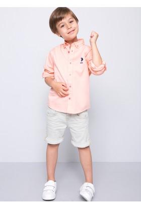 U.S. Polo Assn. Erkek Çocuk Cedcolor-Fw Gömlek Kırmızı
