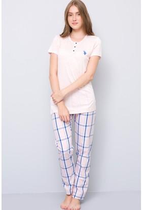 U.S. Polo Assn. Kadın Patli Pijama Takımı Pembe