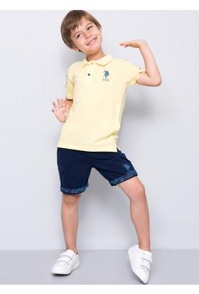U.S. Polo Assn. Erkek Çocuk Edt01Iy7 T-Shirt Sarı