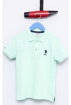 U.S. Polo Assn. Erkek Çocuk Etp01Iy7 T-Shirt Açık Yeşil