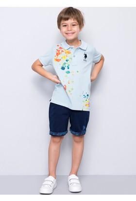 U.S. Polo Assn. Erkek Çocuk Marius T-Shirt Açık Mavi