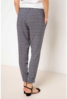 DeFacto Kadın Desenli Pantolon Lacivert