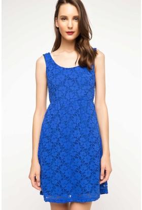 DeFacto Kadın Askılı Elbise Mavi