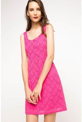DeFacto Kadın Askılı Elbise Pembe