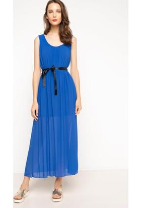 DeFacto Kadın Askılı Uzun Elbise Mavi