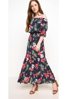 DeFacto Kadın Desenli Elbise Siyah