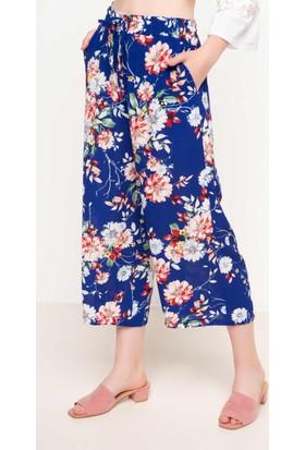 DeFacto Kadın Desenli Pantolon Mavi