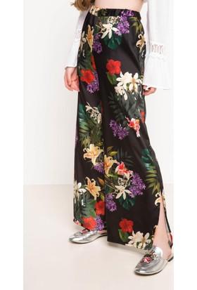 DeFacto Kadın Desenli Pantolon Siyah