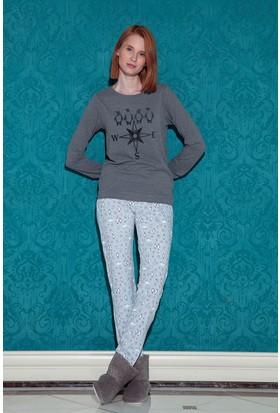 Hays Norda Kadın Uzun Pijama Takım