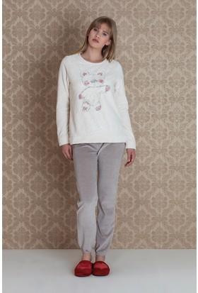 Hays Mona Kadın Kadife 2'li Pijama Takımı