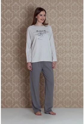 Hays Plus Size Kadın Uzun Pijama Takımı