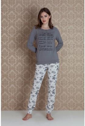 Hays Tica Kadın Önden Düğmeli Uzun Pijama Takımı