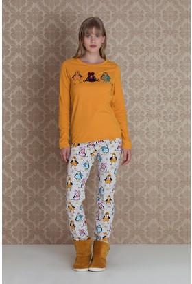 Hays Pingua Kadın Uzun Kollu Uzun Pijama Takımı