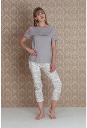 Hays Bloom Dantelli Midi Pijama Takımı