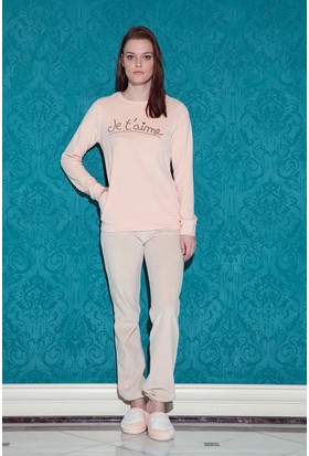Hays Browni Kadın Kadife 2'li Pijama Takımı