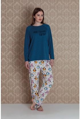 Hays Plus Size Kadın 2'li Pijama Takımı