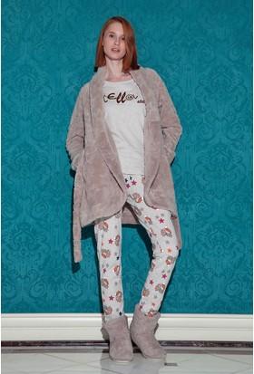 Hays Stellina Wellsoft Sabalıklı 3'lü Pijama Takımı