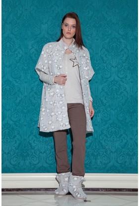 Hays Stellina Wellsoft Sabahlıklı 3'lü Pijama Takımı
