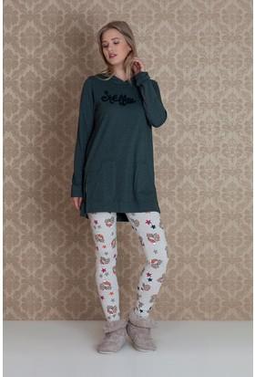 Hays Stellina Kadın Penye 2'li Taytlı Pijama Takımı