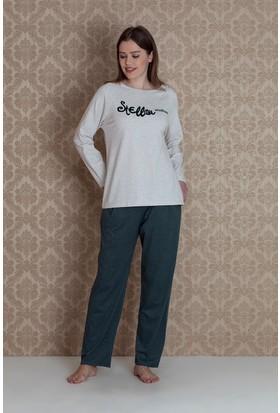 Hays Plus Size Kadın 2'li Uzun Pijama Takımı