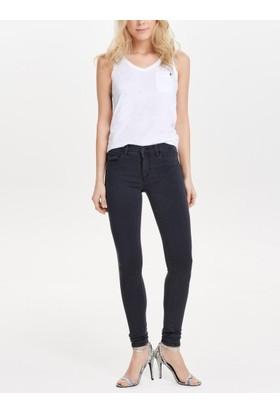 Only Bayan Likralı Füme Kot Pantolon 15138616 Onldenim Power Reg Ankle Jeans