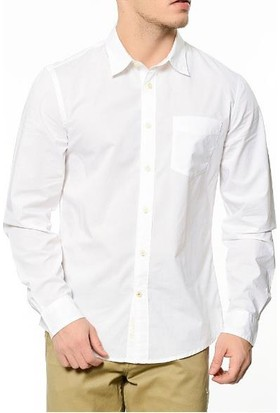 Dockers Erkek Gömlek 67405-0025 Beyaz Standart Fit