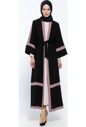 Elbise&Abaya 2'li Takım - Siyah Pudra - Jamila