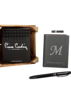 Pierre Cardin Yeni Sezon Erkek Deri Cüzdan + İsme Özel Şık Tasarım Kalem