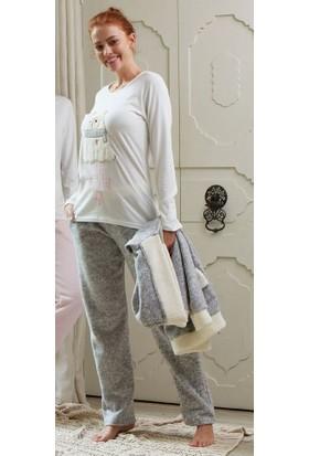 Feyza 3104 3'lü Kadın Pijama Takımı