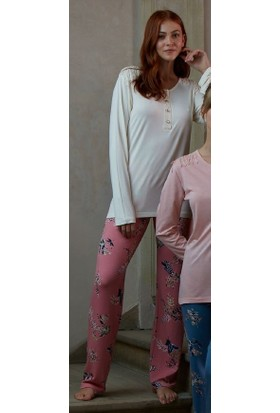 Feyza 3160 Hırkalı 3'lü Kadın Pijama Takımı