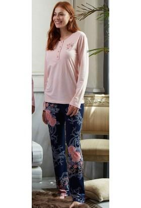 Feyza 3161 Hırkalı 3'lü Kadın Pijama Takımı