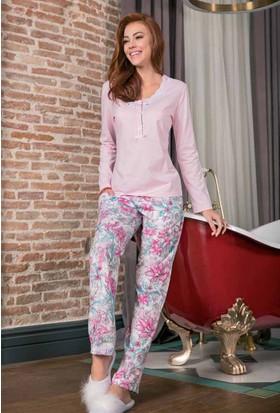 Yeni İnci BPJ1212 Süprem Uzun Kollu Kadın Pijama Takımı