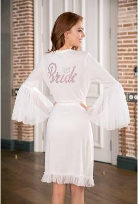 Yeni İnci BPJ182 Bride Gelin Sabahlık