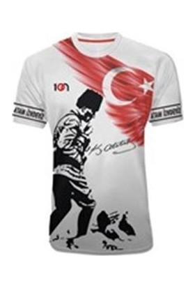 10N Muhteşem Atatürk Baskılı Koca Tepe Beyaz Çocuk T-Shirt