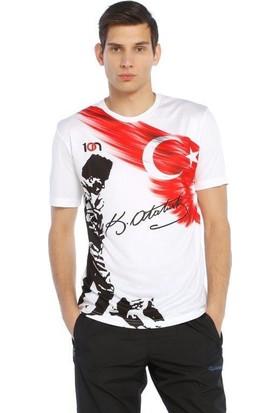10N Muhteşem Atatürk Baskılı Beyaz Koca Tepe T-Shirt