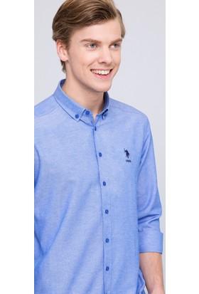 U.S. Polo Assn. Erkek Meto Gömlek Mavi