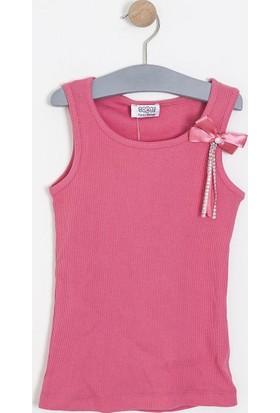 Soobe Kız Çocuk Kolsuz T-Shirt Koyu Gül