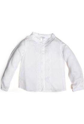 Soobe Kız Çocuk Gömlek Beyaz