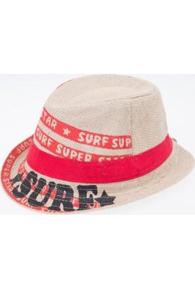 Soobe Erkek Çocuk Hasır Şapka Kırmızı