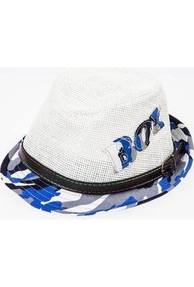 Soobe Erkek Çocuk Hasır Şapka Mavi