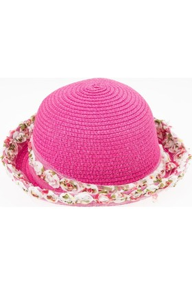 Soobe Kız Çocuk Hasır Şapka Fuşya