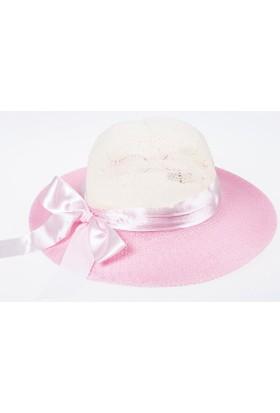 Soobe Kız Çocuk Hasır Şapka Pembe