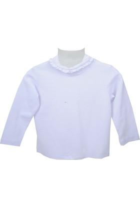 Zeyland Kız Çocuk Beyaz Balıkçı Sweat Shirt 72Kl2861